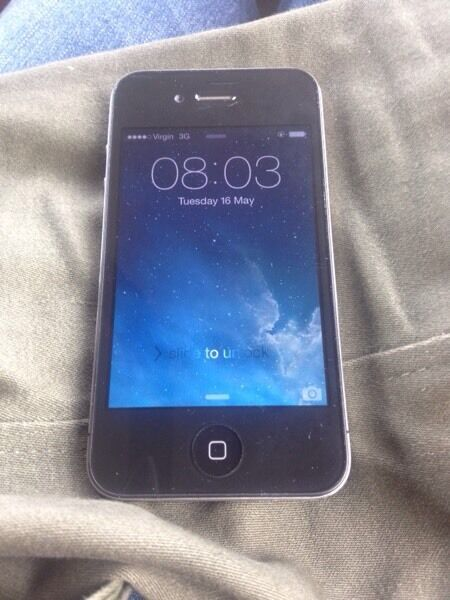 iPhone 4 8gb ee T Mobile Virgin Asda and bt onlyin Streatham, LondonGumtree - This is a lonely condition iPhone 4 everything works perfectly just sitting in the desk .it comes with charger 30 pounds only last price will be at work mostly in Balham or tooting bec thanks 07930370021
