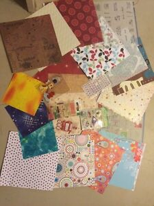 Scrap booking paper and stickers $8 for all