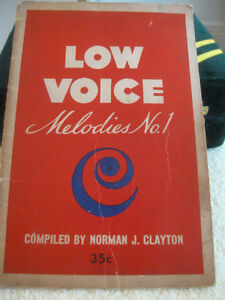 "OLD 1946 BOOK of GOSPEL SONGS..""LOW VOICE MELODIES # ONE"""