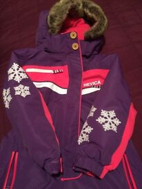 Girls Nevica Skisuit Snowsuit 3-4yrs as new
