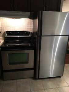 Stainless Fridge and Stove  Peterborough Peterborough Area image 1