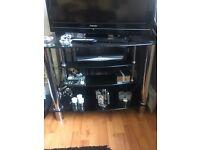 Solid black glass tv unit! ( unit only)