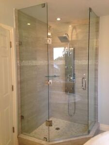 Frameless Shower Glass Doors Enclosures bathtubs - Mirrors etc. Cambridge Kitchener Area image 1