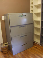 4 Drawer Legal Size Filling Cabinet with Keys