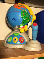 VTech Educational Globe Game, used with TV for extra fun!