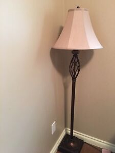 Three-piece lamp set with marble ball $100