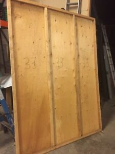 Plywood walls