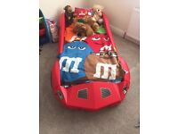 Children's car bed never been used