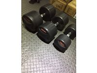 Bodymax Pro 2 Rubber Dumb bell Set 45kg 37.5kg 20kg Singles