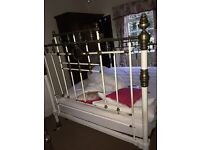 Brass and metal antique bed