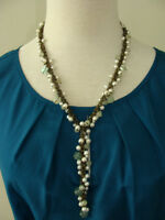 Brand New 'Green Flourite and Pearl' Necklace $ 20