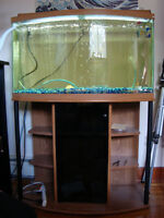 MINT CONDITION 45 GALLON BOW TANK AND STAND