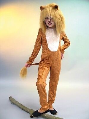 Löwe und Mähne Kostüm Kinder Löwin Raubkatze Tier Fasching Karneval - Löwe Und Löwin Kostüm