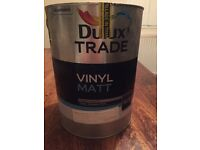 Dulux Trade Paint Matte- cream NEVER OPENED