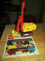 ***VINTAGE LEGO LEGOLAND #383 CRANE W/INSTRUCTIONS!!!***