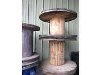 Wooden Cable Reels Ideal Patio Table/ Garden project