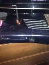 £ 50 if you come today before 12. 250gb Xbox 360, 1 controller 5 games and original box