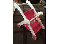 Dolls wooden pushchair