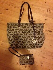 Authentic MK and matching wristlet