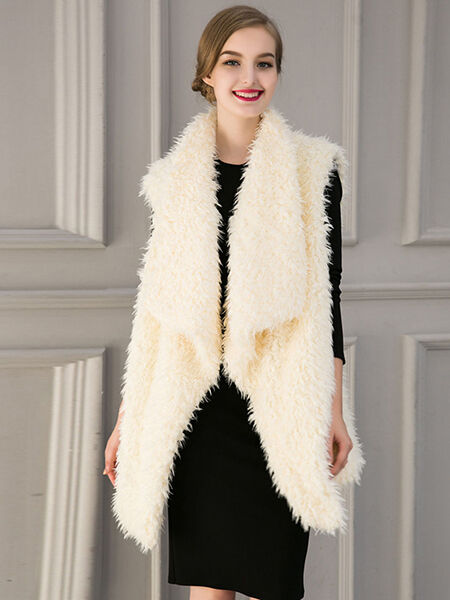 Faux Fur Coat Sleeveless Jacket