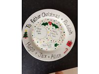 Christmas Eve personalised children's plates