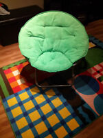 Green Microsued saucer chair