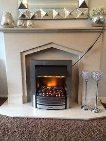 Electric fire with remote Dimplex Sacramento scr20 inset fire