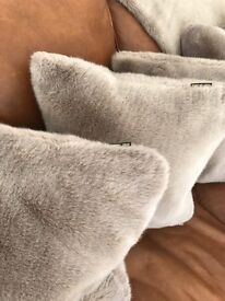 BIBA designer faux fur cushions x5 - NEW - Christmas update