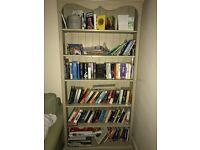 Shabby Chic / French 6 foot bookcase / storage