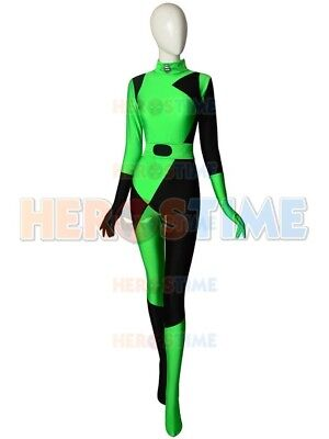 2019 Newset Shego Kim Possible Super Villain Spandex Cosplay Halloween