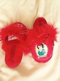 Disney shop Snow White princess slippers size 9-10