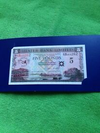 George Best Commemorative £5 Note in original wallet.