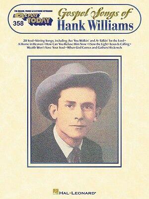 Gospel Songs of Hank Williams Sheet Music E-Z Play Today Book NEW 000100093