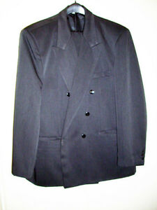Black Double Brested Jacket and pants
