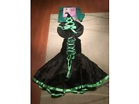 Black with green ribbon witch dress