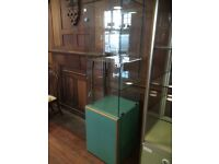 Ex Shop Glazed Display Unit with Cupboard