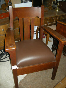 antique rocking chairs and chairs in leather