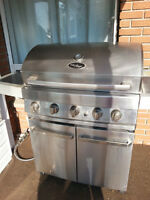 BIG STAINLESS STEEL BARBECUE