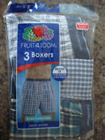 Men's 3 Pk Fruit of the Loom RELAXED FIT Boxer shorts