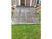 3 x wooden fence panels 6ft