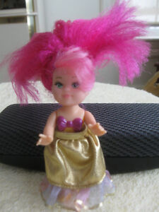 A MINIATURE JEZEBEL [in PINK ]....ON HER WAY TO THE BALL
