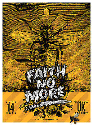 FAITH NO MORE poster Glasgow 2015 by Bobby Dixon