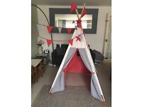 Children's Stars and Stripes teepee tent wigwam