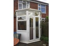 FULL HEIGHT CONSERVATORY WITH 3/4 WALL,GLASS AND PVC