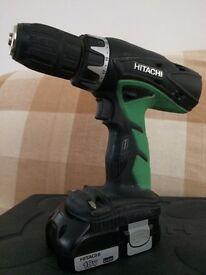 Hitachi 18v cordless combi drill