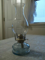 very old coal oil lamp...mint condition