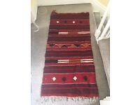 Stunning Authentic Handspun Egyptian Turkish-style Kilim Rug
