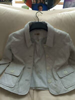 Wilson's -Winter White Quilted Leather Jacket- New Condition