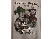 Support the troops T-shirt souvenir of the motorcycle ride