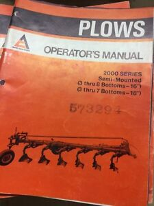 Allis Chalmers Part's, Service and  Operators Manual's Stratford Kitchener Area image 8